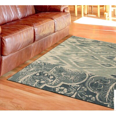 Abram Hand-Loomed Light Blue Area Rug Rug Size: 8 x 11