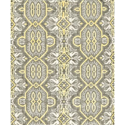 Deija Hand-Knotted Wool Maize Area Rug Rug Size: Rectangle 56 x 86