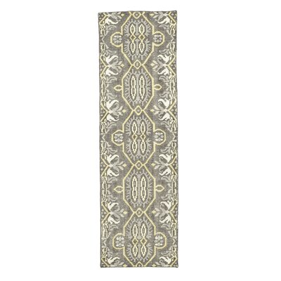 Deija Hand-Knotted Wool Maize Area Rug Rug Size: Runner 26 x 8