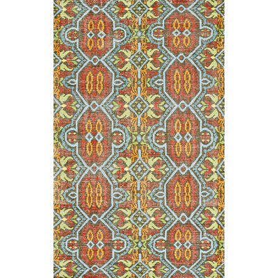 Deija Hand-Knotted Aura Area Rug Rug Size: Rectangle 4 x 6