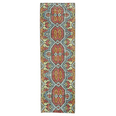 Bobby Hand-Knotted Aura Area Rug Rug Size: Runner 26 x 8