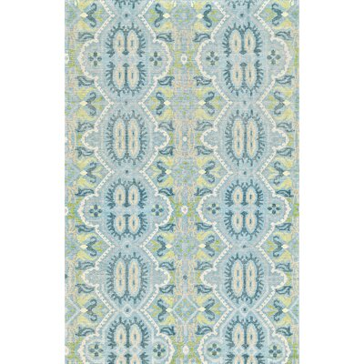 Deija Hand-Knotted Celadon Area Rug Rug Size: Rectangle 9'6