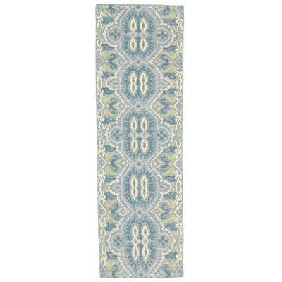 Deija Hand-Knotted Celadon Area Rug Rug Size: Runner 26 x 8