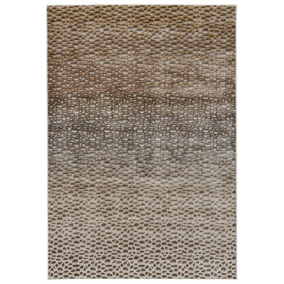JoLinda Dark Gold Area Rug Rug Size: Rectangle 8 x 11