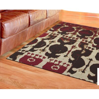 Abram Hand-Loomed Red/Brown Area Rug Rug Size: 5' x 8'