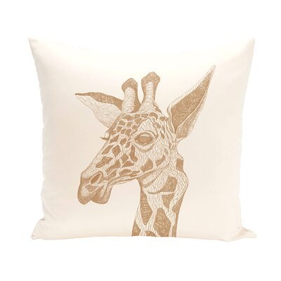 Melvin Throw Pillow Size: 18 H x 18 W, Color: Ivory