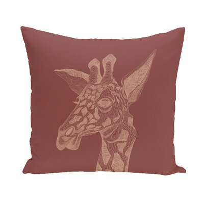 Melvin Throw Pillow Size: 26 H x 26 D, Color: Rust