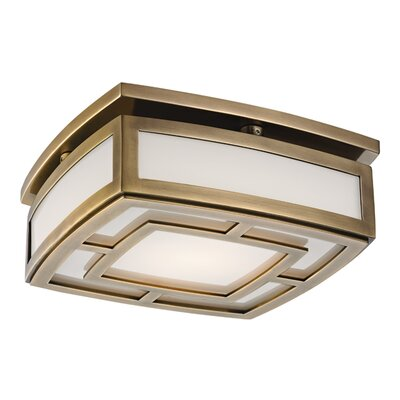 Bretta 1-Light LED Flush Mount Finish: Aged Brass