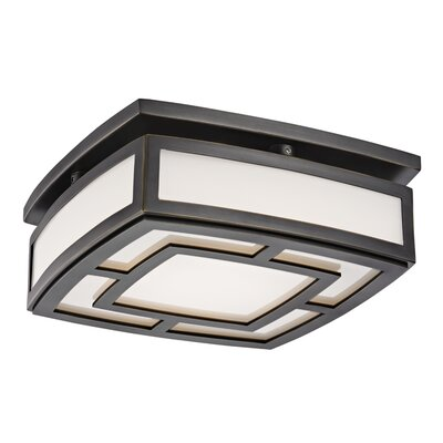 Bretta 1-Light LED Flush Mount Finish: Old Bronze