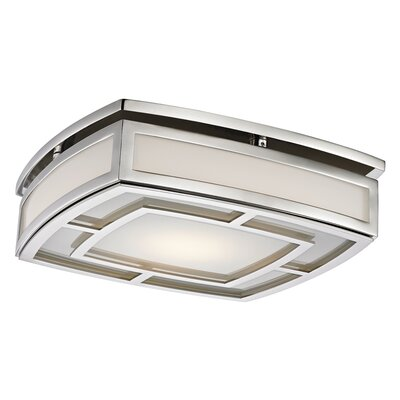 Bretta 1-Light 18W LED Flush Mount Finish: Polished Nickel