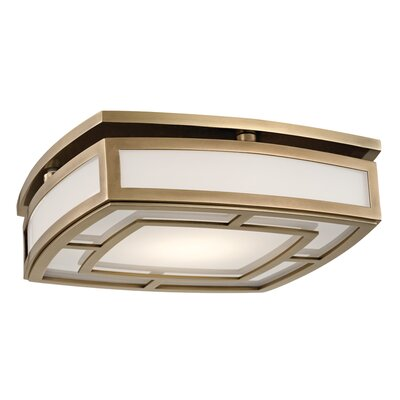 Bretta 1-Light 18W LED Flush Mount Finish: Aged Brass