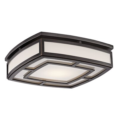 Bretta 1-Light 18W LED Flush Mount Finish: Old Bronze