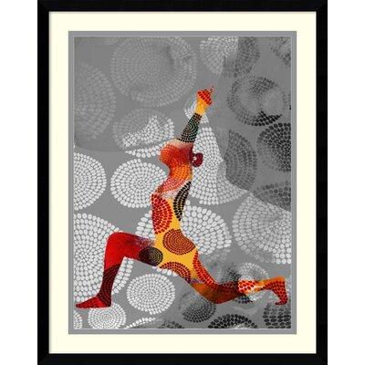 'Yoga Pose IV' Framed Graphic Art Print BBMT8596 41610975