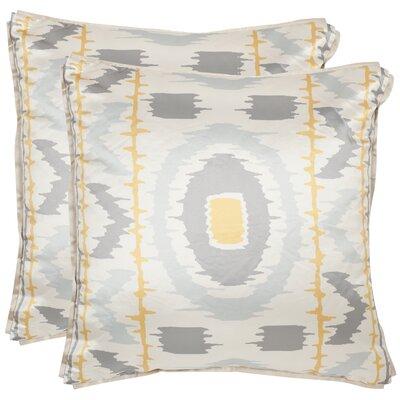 Walton Throw Pillow Color: Gold / Grey