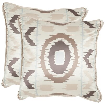 Walton Throw Pillow Color: Blue / Taupe