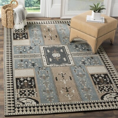 Essie Beige/Blue Area Rug Rug Size: Rectangle 4 x 6