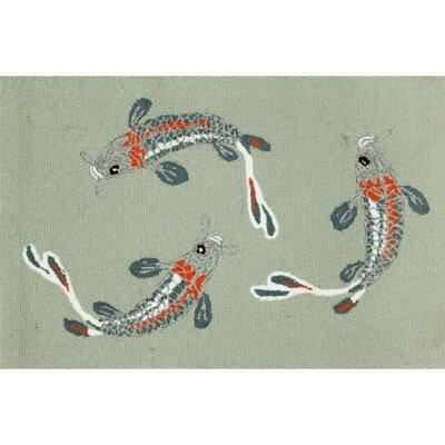 Marlon Koi Fish Area Rug Rug Size: 18 x 26
