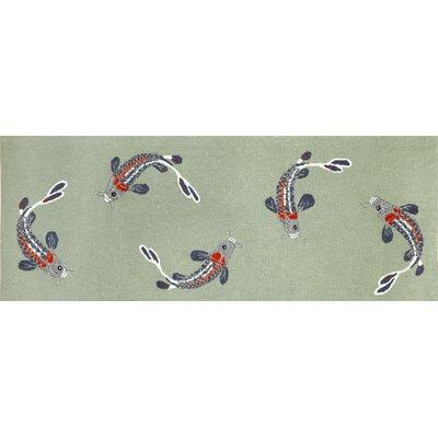 Marlon Koi Fish Area Rug Rug Size: Runner 23 x 6