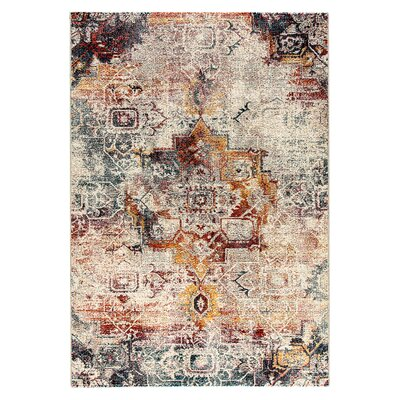 Zaiden Gray/Brown/Yellow Area Rug Rug Size: 710 x 1010