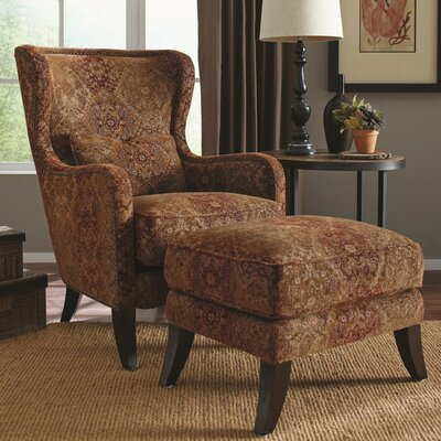 Darian Wing Armchair and Ottoman
