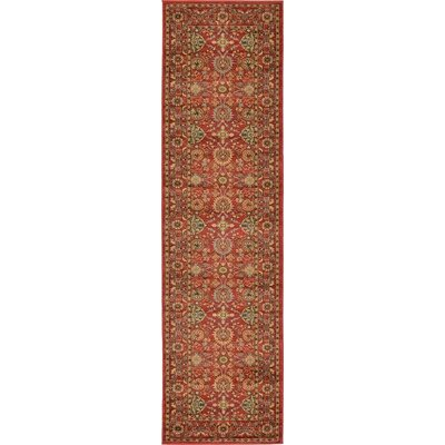 Willow Red Indoor Area Rug Rug Size: Runner 27 x 10