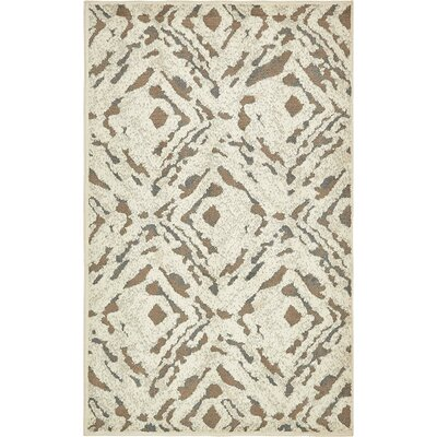 Jahiem Beige Indoor Area Rug Rug Size: Rectangle 5 x 8