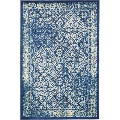 Geleen Beige/Blue Indoor Area Rug Rug Size: 6 x 9