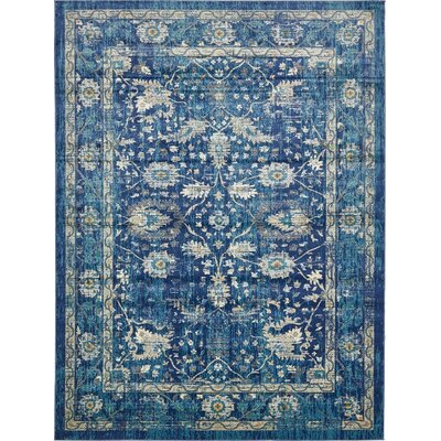 Geleen Navy Blue Indoor Area Rug Rug Size: Rectangle 7 x 10