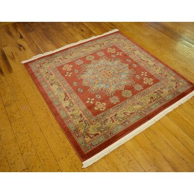 Jaida Square Red Indoor Area Rug