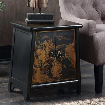 Raiden End Table Color: Black