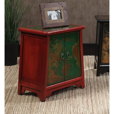 Raiden End Table Finish: Red / Green