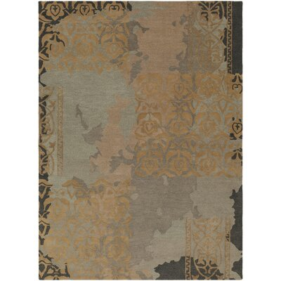 Brees Hand-Tufted Medium Gray/Camel Area Rug Rug Size: Rectangle 8 x 11
