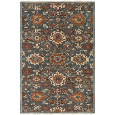 Carlisle Hand-Knotted Dark Green/Burnt Orange Area Rug Rug Size: 6 x 9