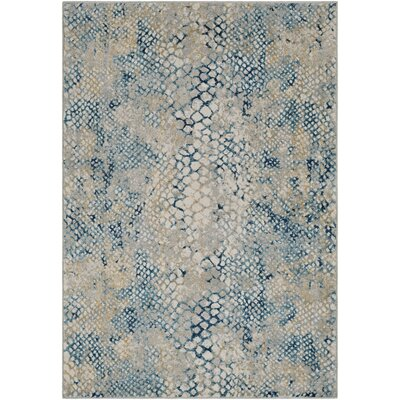 Shepard Navy/Teal Area Rug Rug Size: Rectangle 53 x 76