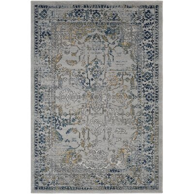 Cassian Oriental Teal/Taupe Area Rug Rug Size: Rectangle 53 x 76