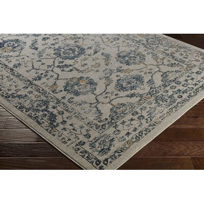 Cassian Neutral Teal/Taupe Area Rug Rug Size: 53 x 76