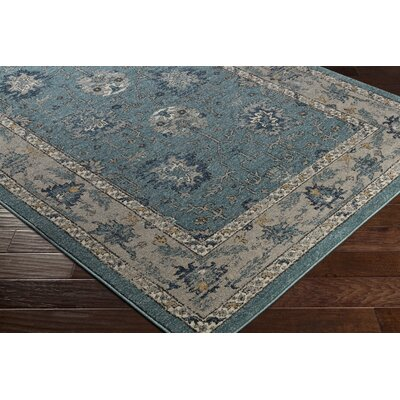 Cassian Teal/Taupe Area Rug Rug Size: Rectangle 53 x 76
