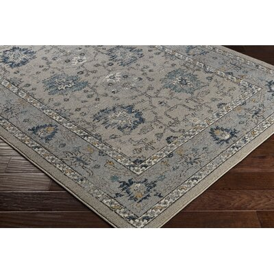 Cassian Navy/Taupe Area Rug Rug Size: Rectangle 2' x 3'