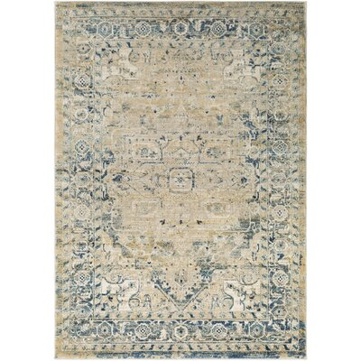 Cassie Dark Blue/Beige Area Rug Rug Size: Rectangle 5'3