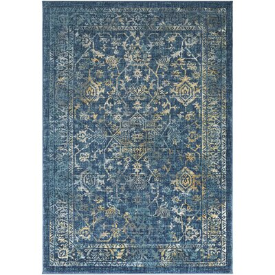 Herring Navy/Teal Area Rug Rug Size: Rectangle 710 x 103