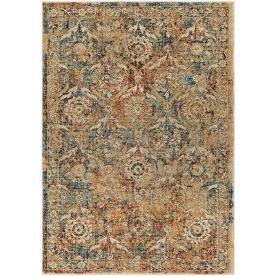 Cassie Burnt Orange/Saffron Area Rug Rug Size: 2 x 3