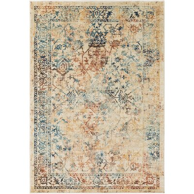 Herring Burnt Orange/Dark Brown Area Rug Rug Size: 53 x 76