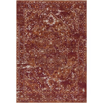 Angus Burnt Orange/Dark Red Indoor/Outdoor Area Rug Rug Size: Rectangle 53 x 73