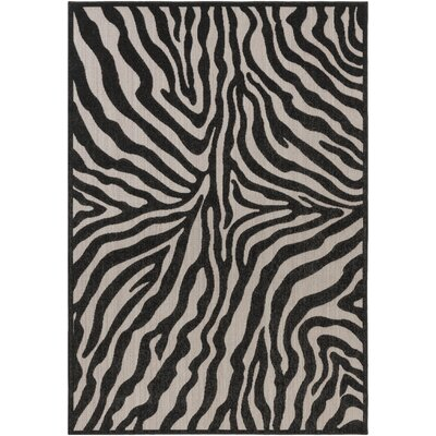 Dalton Black/Ivory Indoor/Outdoor Area Rug Rug Size: Rectangle 710 x 103