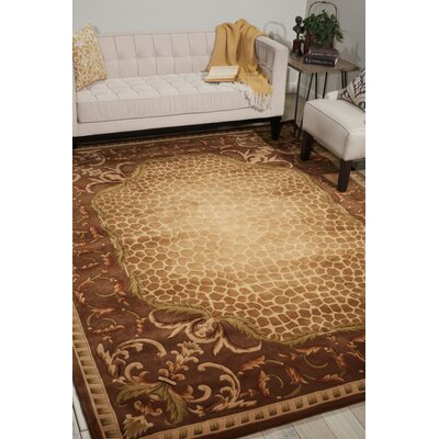Aedan Hand-Tufted Brown Area Rug Rug Size: Rectangle 76 x 96