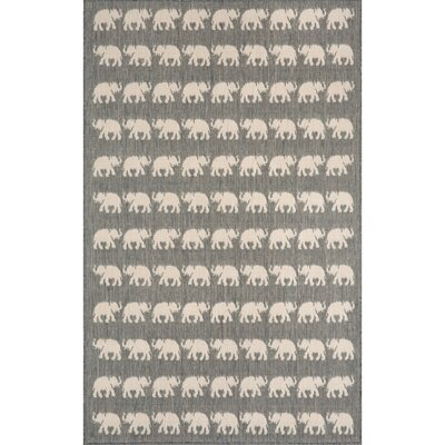 Slimane Silver Elephants Indoor/Outdoor Area Rug Rug Size: Rectangle 4'11