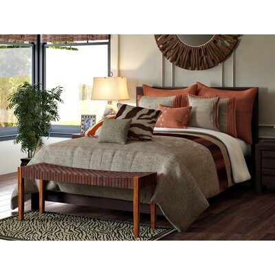 Ruppe 7 Piece Comforter Set Color: Spice/Brown, Size: Queen