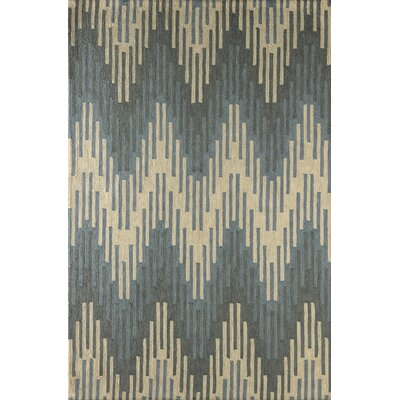 Luciano Hand-Tufted Sky Area Rug Rug Size: 4 x 6