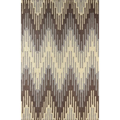 Luciano Hand Tufted Dark Iris Area Rug Rug Size: 5 x 8