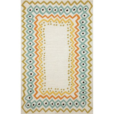 Francis Ethnic Pastel Border Indoor/Outdoor Area Rug Rug Size: 76 x 96